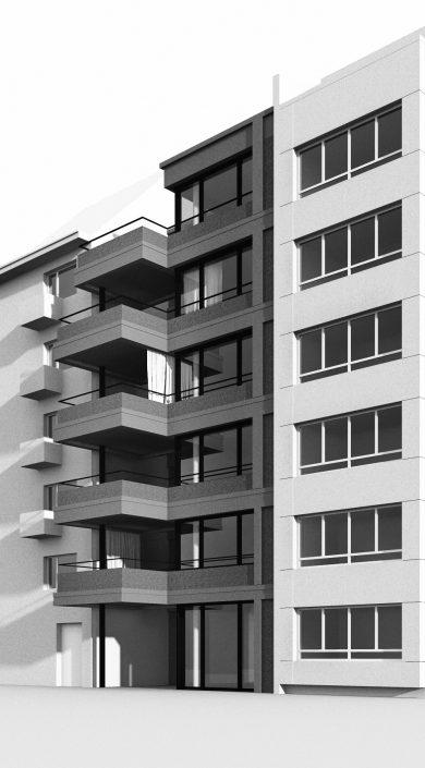 Mehrfamilienhaus am Spalenring Basel, 2012