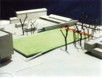 Turnhalle auf dem Areal Sandgrube Basel, 1991